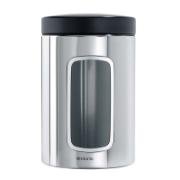 BRABANTIA WINDOW CANISTER, 1.4 LITRE - BRILLIANT STEEL