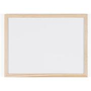 DRY WIPE WHITEBOARD NOTICEBOARD WOODEN FRAMED 300X400MM