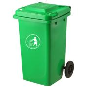 BIDONE BIN GREEN 100L WITH WHEELS