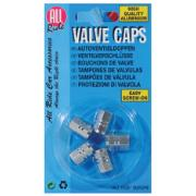 ALL RIDE VALVE CAPS SILVER (5PCS)