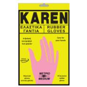 KAREN RUBBER GLOVES-M