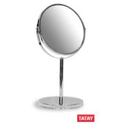 TATAY MAGNIFYING STANDING MIRROR 17CM X 5 ZOOM CHROME