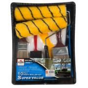 SUPER PAINTING ROLLER KIT 10PC