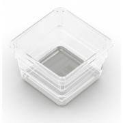 KIS ORGANIZER 7.5X7.5X5 CM TRANSPARENT/GREY