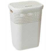 DEA LAUNDRY BASKET 60 LTR WHITE