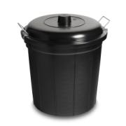 DUSTBIN 56L BLACK COMPLETE