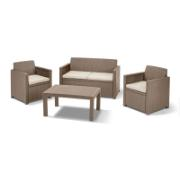 MERANO 4PCS SOFA SET CAPUCHINO