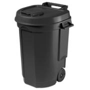 DUSTBIN WITH LID ON WHEELS 110L