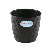 STEFANPLAST LIBERTY POT 20CM ANTHRACITE