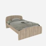 SEMI DOUBLE BED 107x190CM BLONDE