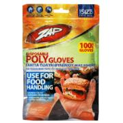 ZAP DISPOSABLE POLYGLOVES 100PCS