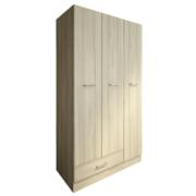 KITWOOD WARDROPE 3 DOOR AND 1 DRAWER 184X109X52CM BLONDE