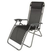 ARIEL FOLD LOUNGE WITH PILLOW BLACK