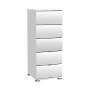 CHEST PERFECT 5 DRAWERS PEARL WHITE