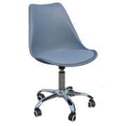 MARIA OFFICE CHAIR WITH WHEEL GREY COLOR