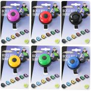 BICYCLE GEAR BIKE BELL 6 ASSORTED COLORS