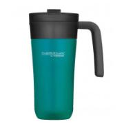 THERMOS TRAVEL MUG 450ML BLUE WITH HANDLE
