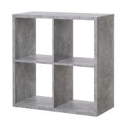 MAX4 SHELF UNIT WITH 4 CUBES CONCRETE