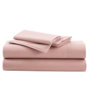 IONION BEDSHEET FLAT COTTON 220X260CM MISTY ROSE