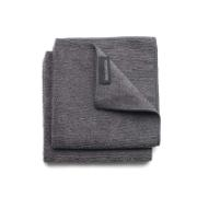 BRABANTIA MICROFIBRE DISH CLOTHS, 30 X 30 CM, SET OF 2 - DARK GREY