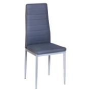 EMILY DINING CHAIR SIL/GREY