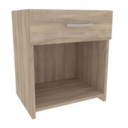 BED SIDE TABLE 47X45X34CM BLONDE