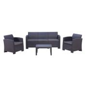 ALBERTA 3 SEAT SOFA SET GREY