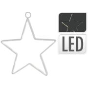 XMAS STAR 15LED WARM WHITE 14C