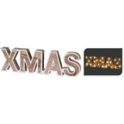 XMAS LETTERS WOOD 25 LED 38CM