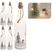XMAS GLASS BOTTLE 5LEDS 30CM