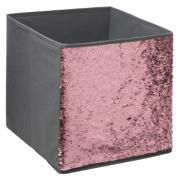 SEQUIN NON WOVEN BOX GREY