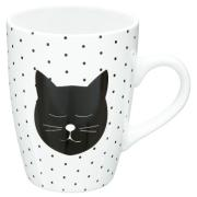 ROUND MUG W/DOTS CATS 33CL