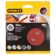 STANLEY SANDING SHEET 120GR 125MM 5