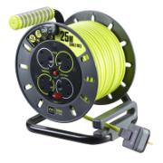 MASTERPLUG CABLE REEL 13A 4-GANG 25M