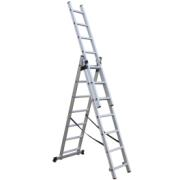SUPERTOOLS ALUMINIUM EXTENSION LADDER 3X7 STEPS