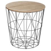 SIDE TABLE KUMI BLACK 39.5X41CM