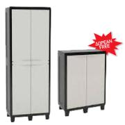 TOOMAX SET WITH CABINET 65X38X178CM + VENTILATED SHELF 65X38X94CM