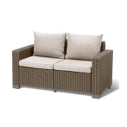 KETER CALIFORNIA DOUBLE SOFA CAPPUCCINO