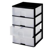 PLASTIC DRAWER MODER BLACK COLOR 38X37X63CM