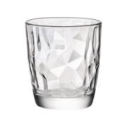 DIAMOND WATER GLASS 30CL CLEAR