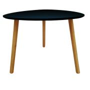 TRIANGLE TABLE BLACK 55X55X45CM