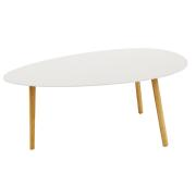 TRIANGLE TABLE WHITE 90X46X45CM