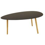 TRIANGLE TABLE BLACK 90X46X45CM