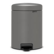 PEDAL BIN NEWICON, LUXURY EDITION, 5 LITRE - MINERAL CONCRETE GREY