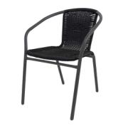 TINA CHAIR GREY/BLACK RATTAN