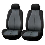 GEAR&GO SEAT COVER BLACK/GREY 2PC