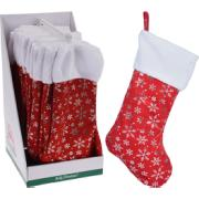 XMAS STOCKING 42CM SNOWFLAKE