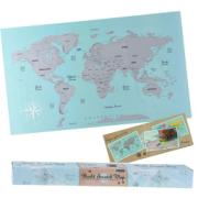 WORLD MAP SCRATCH 88X52CM