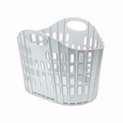 FLAT FOLDING LAUNDRY BASKET GREY&GREEN