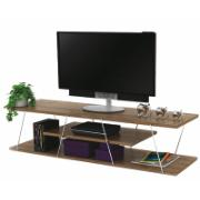 TV STAND WOODEN WITH METAL-WALNUT